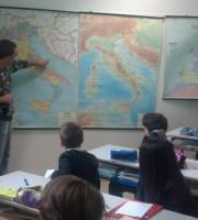 Filippo Del Zompo durante l'intervista spiega quali sono le zone di pesca nell'Adriatico