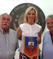 Da sinistra Tonino Travaglini, Lisa Aprati, Pino Perotti e la moglie Silvana