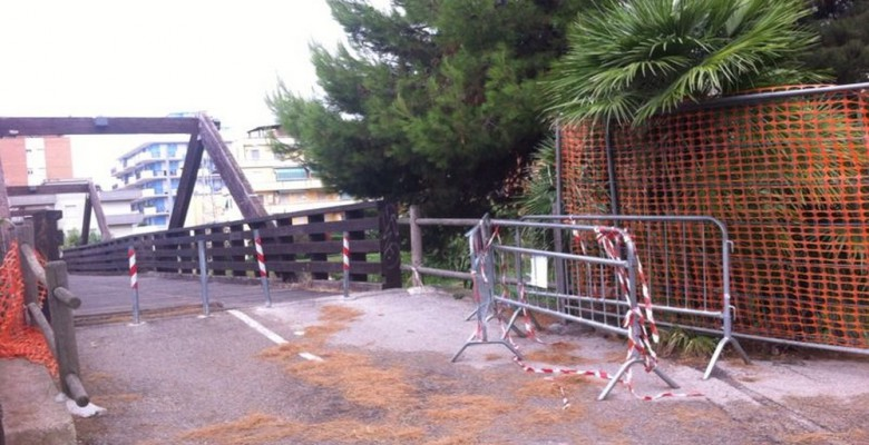 Il Ponte sul Vibrata chiuso da luned' 11 gennaio