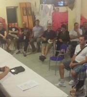 un momento dell'incontro dell'associazione Difendiamo il Territorio