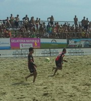 Un'immagine della partita