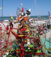 Pinocchio in bicicletta