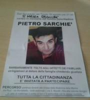 Volantino della fiaccolata dedicata a Pietro Sarchiè