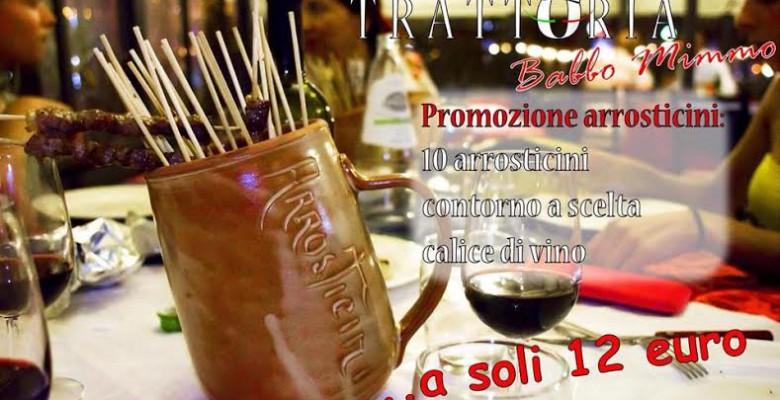 Arrosticini in promozione, da Babbo Mimmo