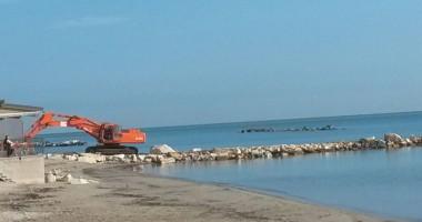 lavori antierosione sul litorale di Martinsicuro