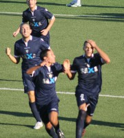 Esultanza Porto d'Ascoli al momento del gol partita di Biancucci contro l'Atletico Gallo