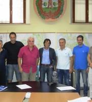 Il sindaco Enrico Piergallini, il Vicesindaco Alessandro Rocchi, il Consigliere delegato allo sport Manolo Olivieri e la Fitp