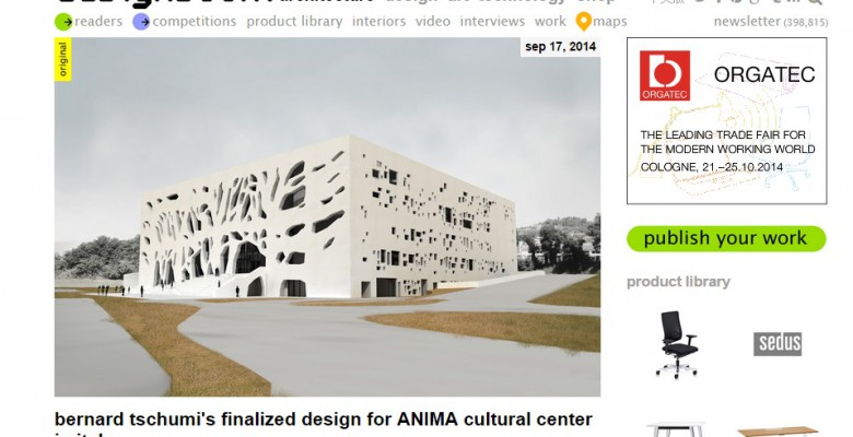 Il progetto Anima descritto da Designboom.com