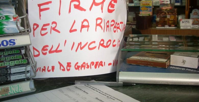 Incrocio Viale De Gasperi, discorso ancora aperto