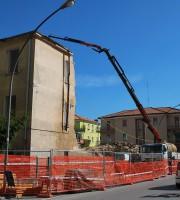 Demolizione via Abruzzi