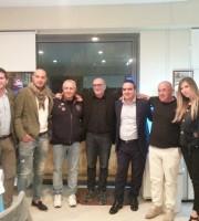 Il direttore e la nostra Elisabetta Gnani insieme a Moneti, Bucci, Arcipreti, Piccoli e Mosconi
