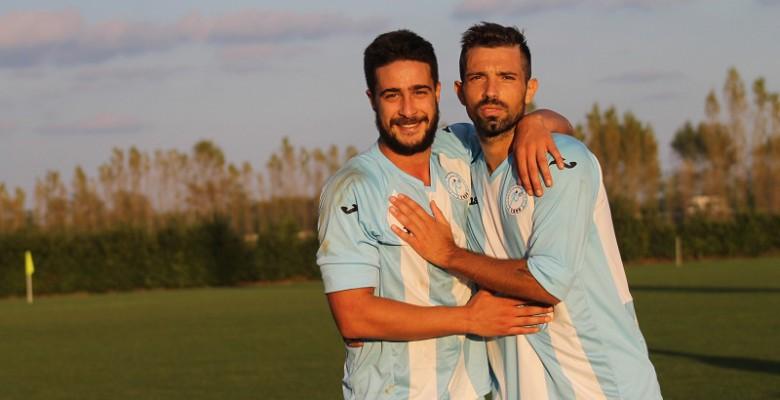 La coppia gol del Grottammare calcio  Marco Di Crescenzo  - Saverio Mastrojanni, 8 gol in 2