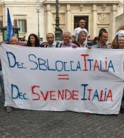 Stoccaggio gas, protesta a Roma
