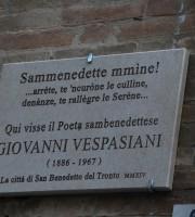 Targa in memoria di Giovanni Vespasiani