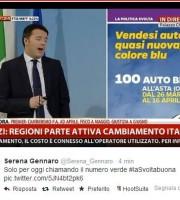 Una delle slide di Matteo Renzi presentate la scorsa primavera