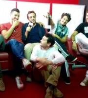 Il cast di SanFood: Francesco Cognigni, Andrea Assenti (A), Andrea Broglia, Davide Passaretti (in basso), Carlo Barbieri e Andrea Assenti (B)