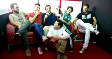 Il cast di SanFood: Francesco Cognini, Andrea Assenti (A), Andrea Broglia, Davide Passaretti (in basso), Carlo Barbieri e Andrea Assenti (B)