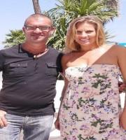 Il vicepresindente dell'associazione Floriano Tavoletti assieme alla showgirl Irene Tagli