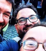 Don Dino Pirri con alcuni amici sacerdoti