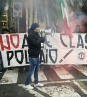 Protesta all'Alberghiero