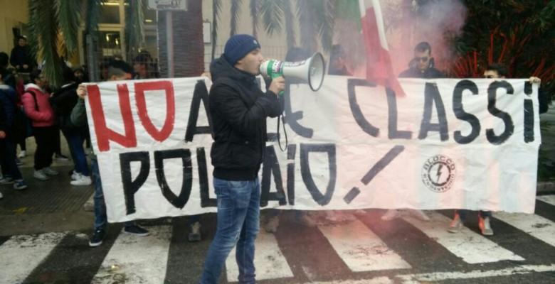 Protesta all'Alberghiero
