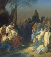 Un dipinto che raffigura un momento della vita di Giuseppe il patriarca