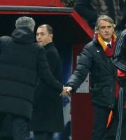 Mancini e Mourinho dopo Chelsea-Galatasaray