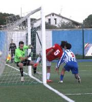 Il gol del 2-0 siglato da Roberto Piunti
