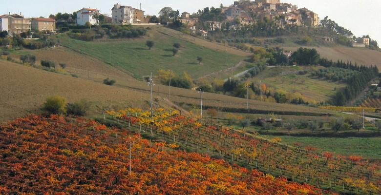 Monteprandone vista da Acquaviva, un simbolo dell'unione fra i comuni