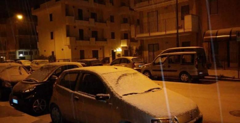 San Benedetto imbiancata dalla neve, foto di Roberta Palanca, notte tra il 28 e 29 dicembre 2014
