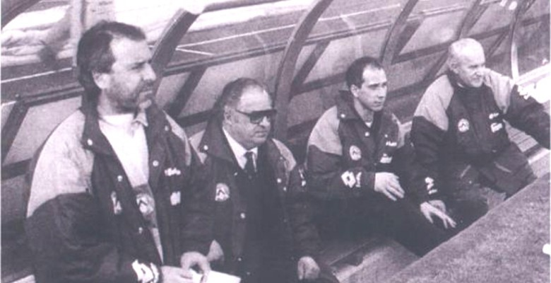 Arcadio Spinozzi sulla panchina dell'Udinese