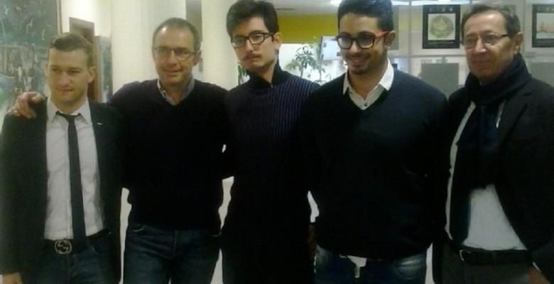 Gabrielli e Piunti con la delegazione giovanile di Forza Italia