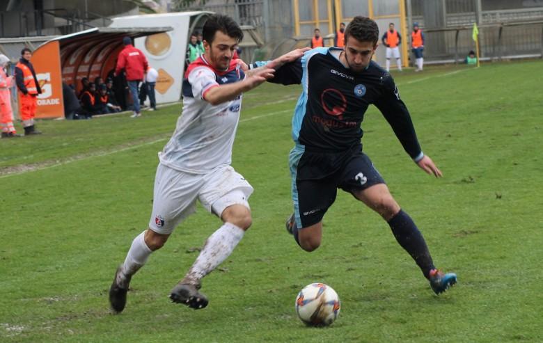 Alessandro in azione contro il Celano, foto Bianchini