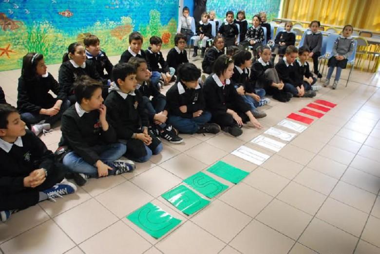 Alunni della scuola Marchegiani