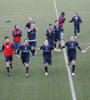 Festa Porto d'Ascoli al fischio finale dopo l'1-0 sul Corridonia