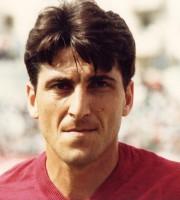 Giuseppe Donatelli quando giocava da centrocampista nella Salernitana