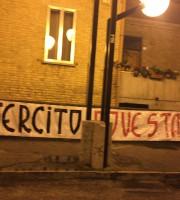 Striscione di Forza Nuova davanti al Comune di Martinsicuro
