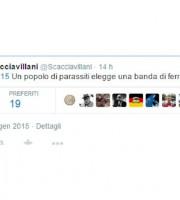 Il tweet di Fabio Scacciavillani sul popolo greco