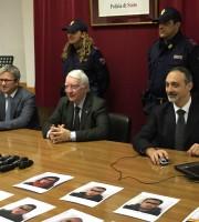 La Polizia di Stato in conferenza stampa (foto di Cristiano Pietropaolo)
