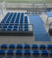 La tribuna del Riviera delle Palme senza tifosi