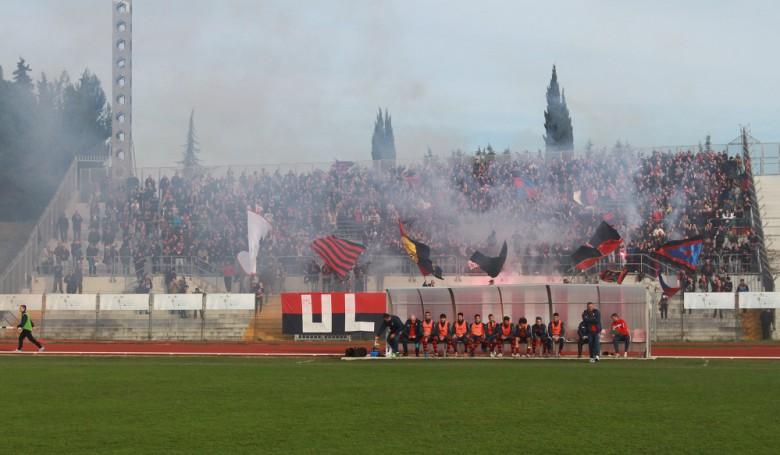 Tifosi della Samb a Macerata