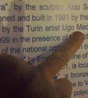 Ugo Nespolo diventa Ugo Medlar (foto Letteraturamagazine)