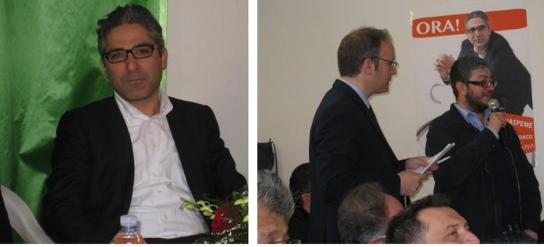 il dimissionario Buonspeme e il sostituto Giuseppe Capriotti