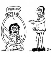 Urbinati e Brunetta nella vignetta di Evo