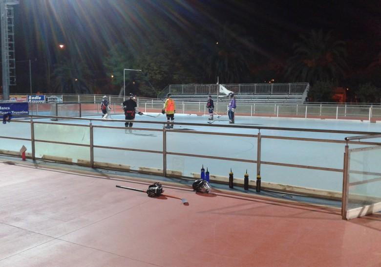 Hockeysti alla pista Panfili