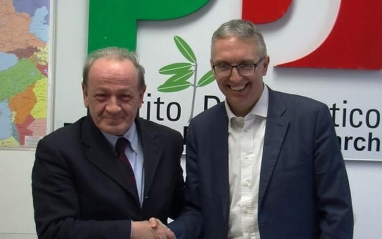 Marcolini e Ceriscioli (foto da anconatoday.it)