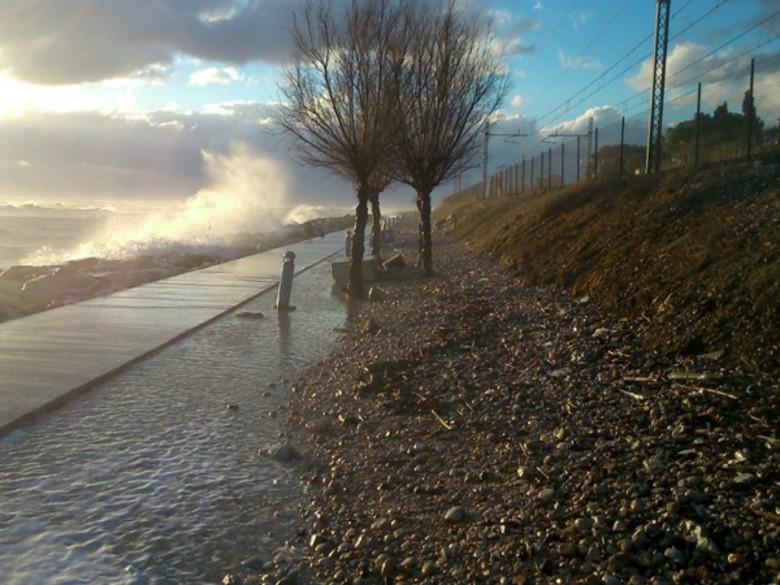 Erosione pista nord