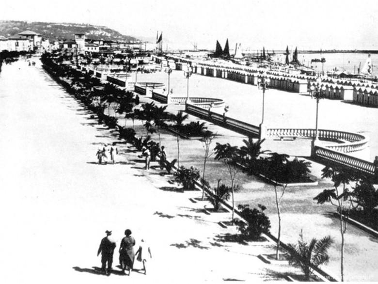 L'attuale viale Buozzi come appariva tra le due guerre