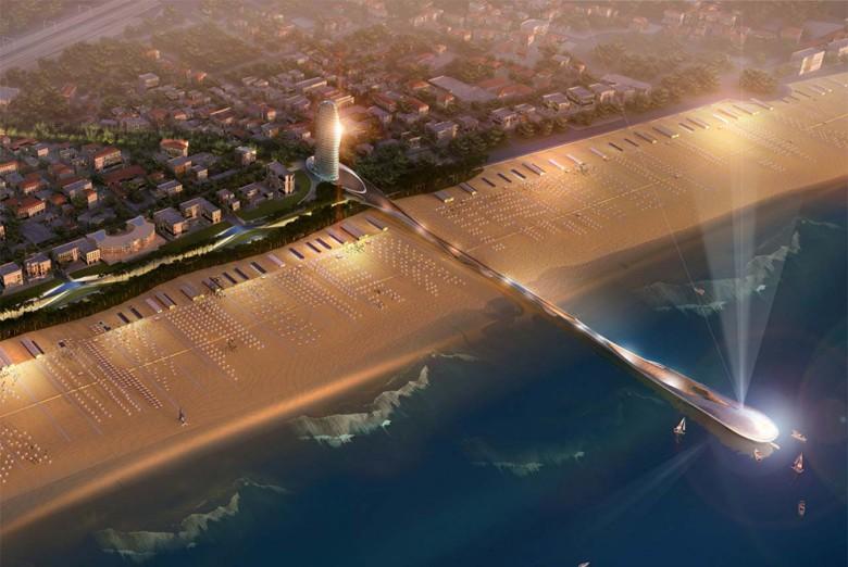 Progetto per il nuovo lungomare di Rimini della Foster and Partners
