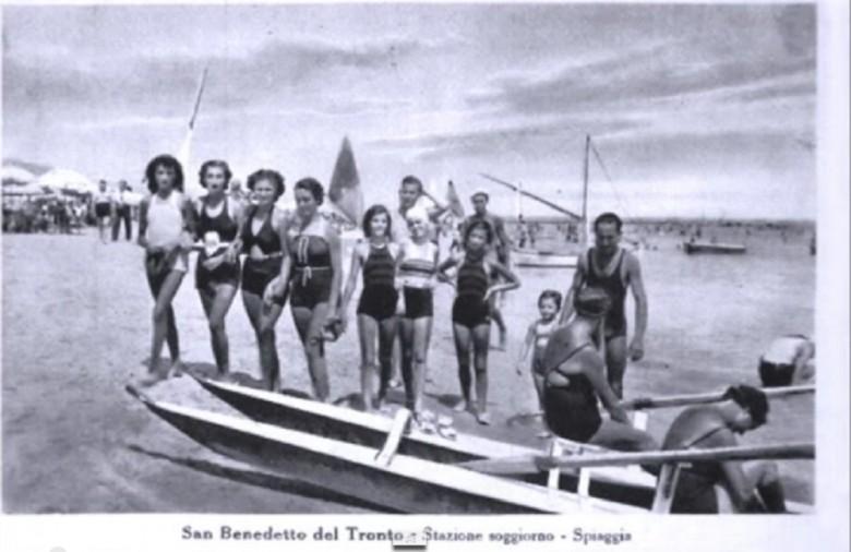 Una cartolina degli anni '30 a San Benedetto (fonte Giovanni Vagnarelli)